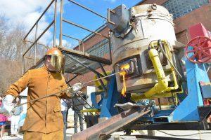 preparing lava experiment