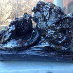 Lava sculpture.