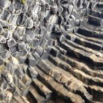 Columnar joints in Icelandic lava.