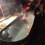 lava pour into water