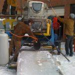 preparing ice ramp